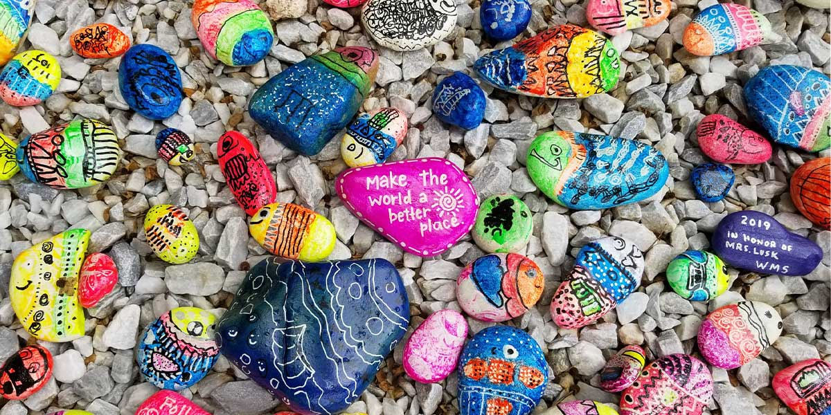 Picture of hand painted stones